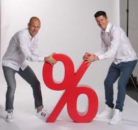 Schriftzug % mit Hartbeschichtung und Lackierung ca. 1 m
