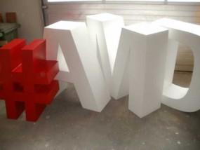 Styroporbuchstaben/ Logos Übergröße (EPS) Zuschnitt + Anstich (ohne Hartbeschichtung)