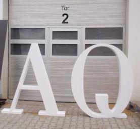 Styroporbuchstaben 51 cm - 55 cm