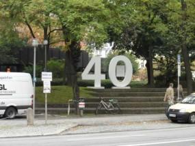 Styroporbuchstaben farbig 26 cm - 30 cm