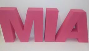 Styrodurbuchstaben farbig 41 cm - 45 cm