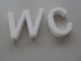 Styroporbuchstaben 25 cm - 30 cm