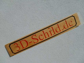 Holzschild in 3D-Optik