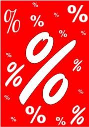 Kundenstopper Papier-Plakat % (Format A1)