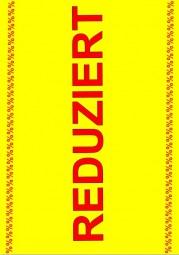 Kundenstopper Papier-Plakat Kundenstopper REDUZIERT % (rot, Hintergrund gelb)