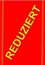 Kundenstopper Papier-Plakat A1 Kundenstopper REDUZIERT % (schräg) gelb, Hintergrund rot