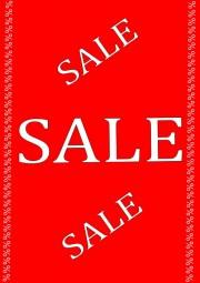 Kundenstopper Papier-Plakat A1 Kundenstopper SALE SALE SALE