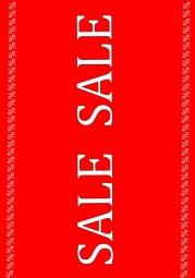 Kundenstopper Papier-Plakat A1 Kundenstopper SALE SALE % %%%