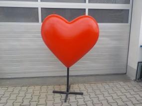 Herz zur Dekoration H: ca. 1 m (zur Vermietung)