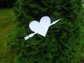 Herz mit Pfeil Dekoration (Hochzeitsdekoration)