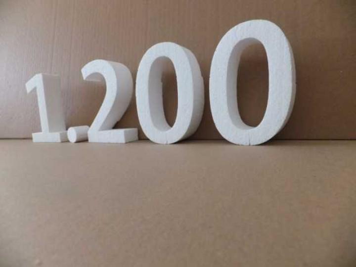 Styroporbuchstaben 36 cm - 40 cm | Styroporbuchstaben roh (Zuschnitt ...