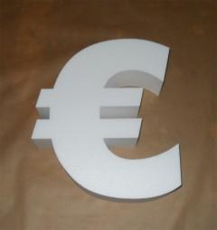 Styropor- € Zeichen