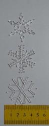 Schneekristalle aus Acrylglas (Motiv wählbar)