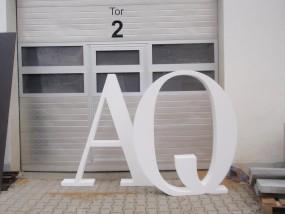 Mietbuchstaben 2 Initialien und & Zeichen H: ca. 100 cm - 120 cm (Hochzeitsbuchstaben)