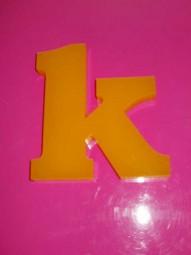 Acryloxbuchstaben Transluzent (Materialstärke: 19 mm)