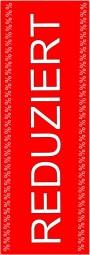 Papier-Werbebanner REDUZIERT (rot/weiß) (B= 60 cm, H= 181 cm)