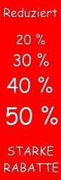 Aufkleber Starke Rabatte (rot/weiß) (B= 43 cm, H= 130 cm)