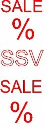 Aufkleber SALE SSV (rot) (B= 60 cm, H= 181 cm)