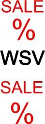 Aufkleber SALE WSV (rot/schwarz) (B= 43 cm, H= 130 cm)