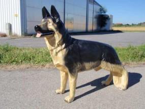 Schäferhund Figur stehend