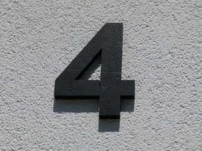 Styroporbuchstaben farbig 36 cm - 40 cm