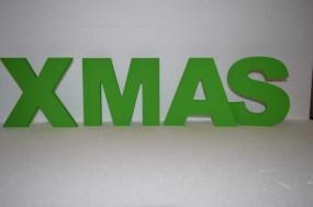 PVC-Hartschaumbuchstaben (lackiert) XMAS H: 20 cm