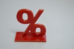%-Zeichen Acrylglas Steckverbindung in Wunschgröße