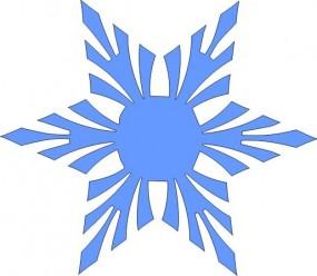 Schneekristall Motiv 11